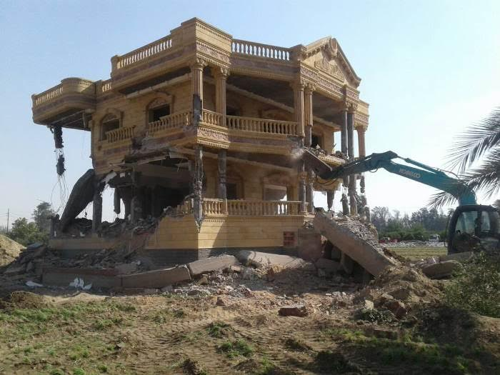 إزالة قصر أكبر تاجر مخدرات مقام على 10 أفدنة بمحافظة الشرقية 61905-10