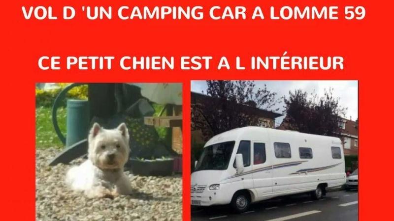 LOMME (59) Leur camping-car est volé… avec leur chien à l'intérieur B9712010