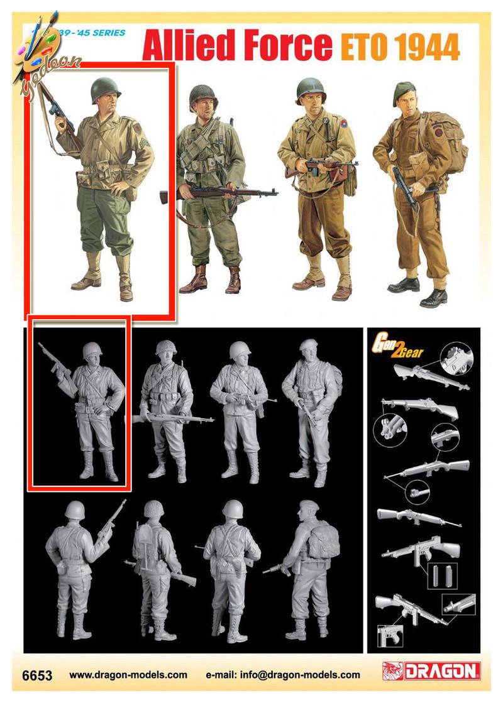 Sergent US WWII (44-45) de la marque DRAGON au 1/35ème (réf :6653) B_dra611