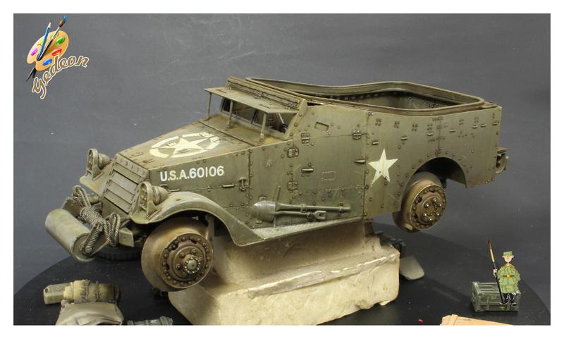 U.S. M3A1 « White scout Car » 1/35 de la marque HobbyBoss Dytail10