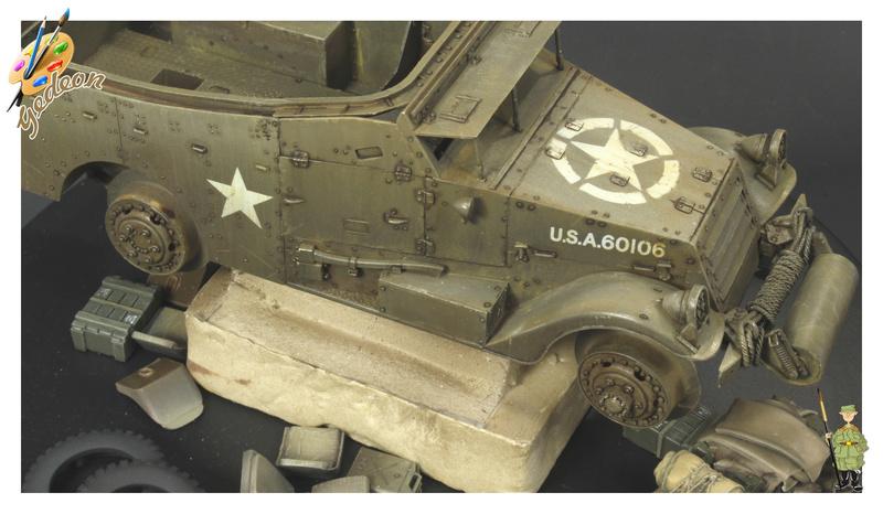 U.S. M3A1 « White scout Car » 1/35 de la marque HobbyBoss Dytail13