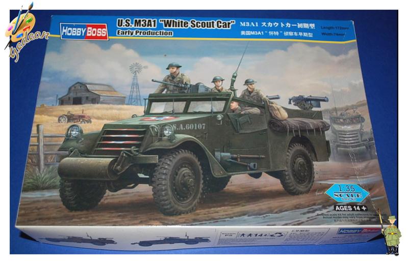 U.S. M3A1 « White scout Car » 1/35 de la marque HobbyBoss Hobby_10