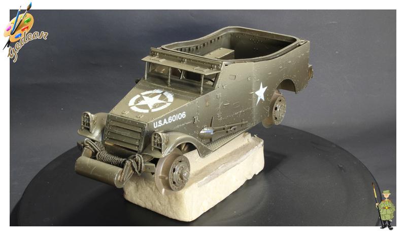 U.S. M3A1 « White scout Car » 1/35 de la marque HobbyBoss M3a1_p11