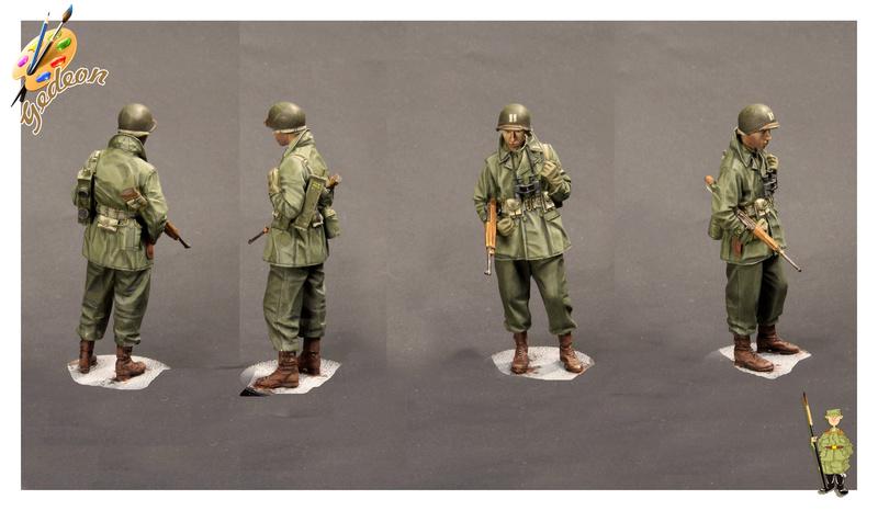Soldat U.S. Marque Alpine au 1/35ème : tuto bretelles d'armes Soldat10