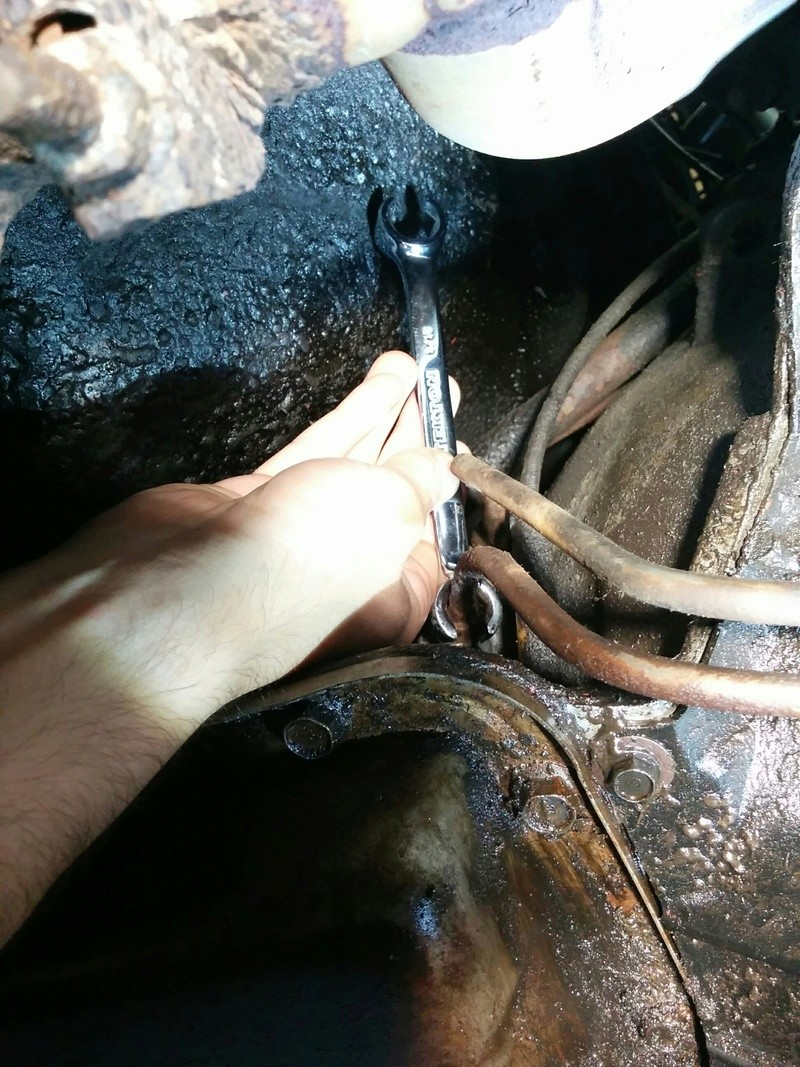 Dropping the transmission to change oil cooler line? Img_2014