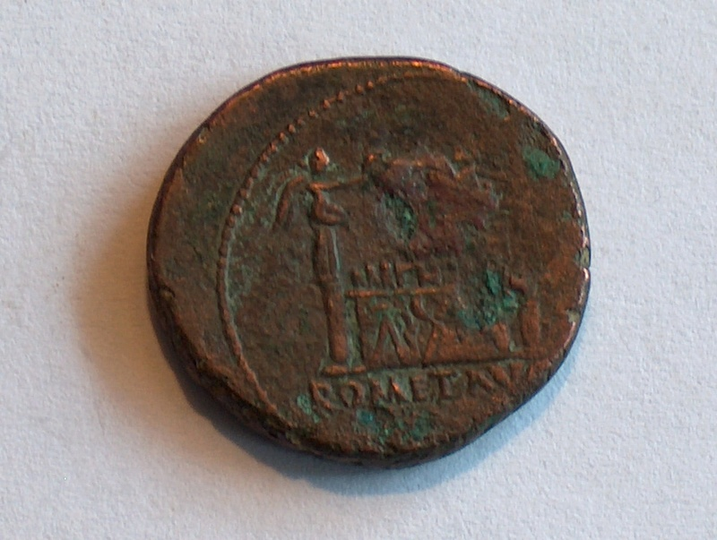Identification romaine 9 As de Lyon pour Auguste  9f10