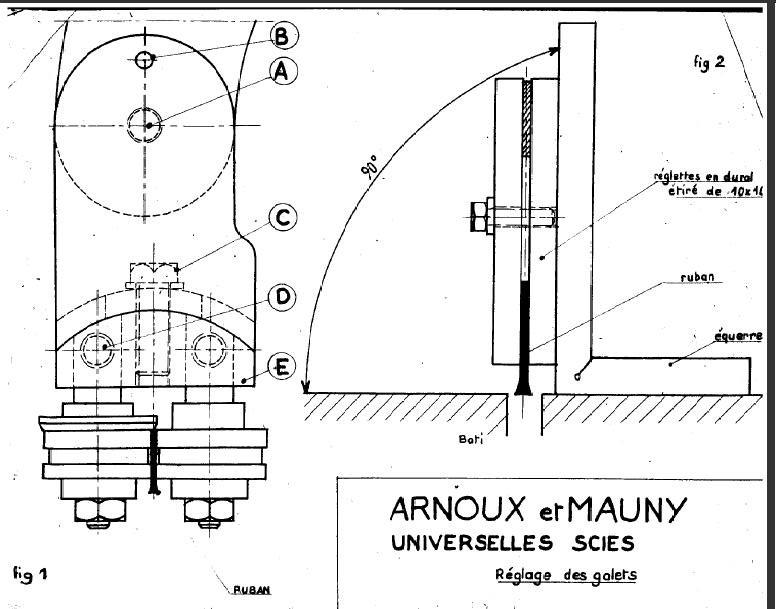Scie à ruban Arnoux & Mauny N°2 Plan_g10
