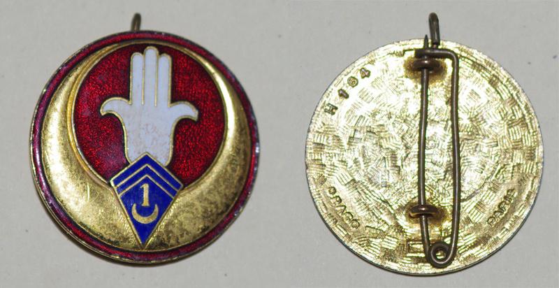 Insignes du 1er régiment de spahi algérien avant 1940 et années 50/60 -ALPINS1 1_rsa_11