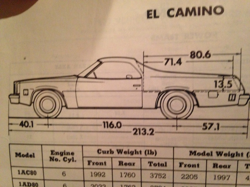 73 El Camino in Sweden -- please help with front bumper to rear tire distance Img_2324