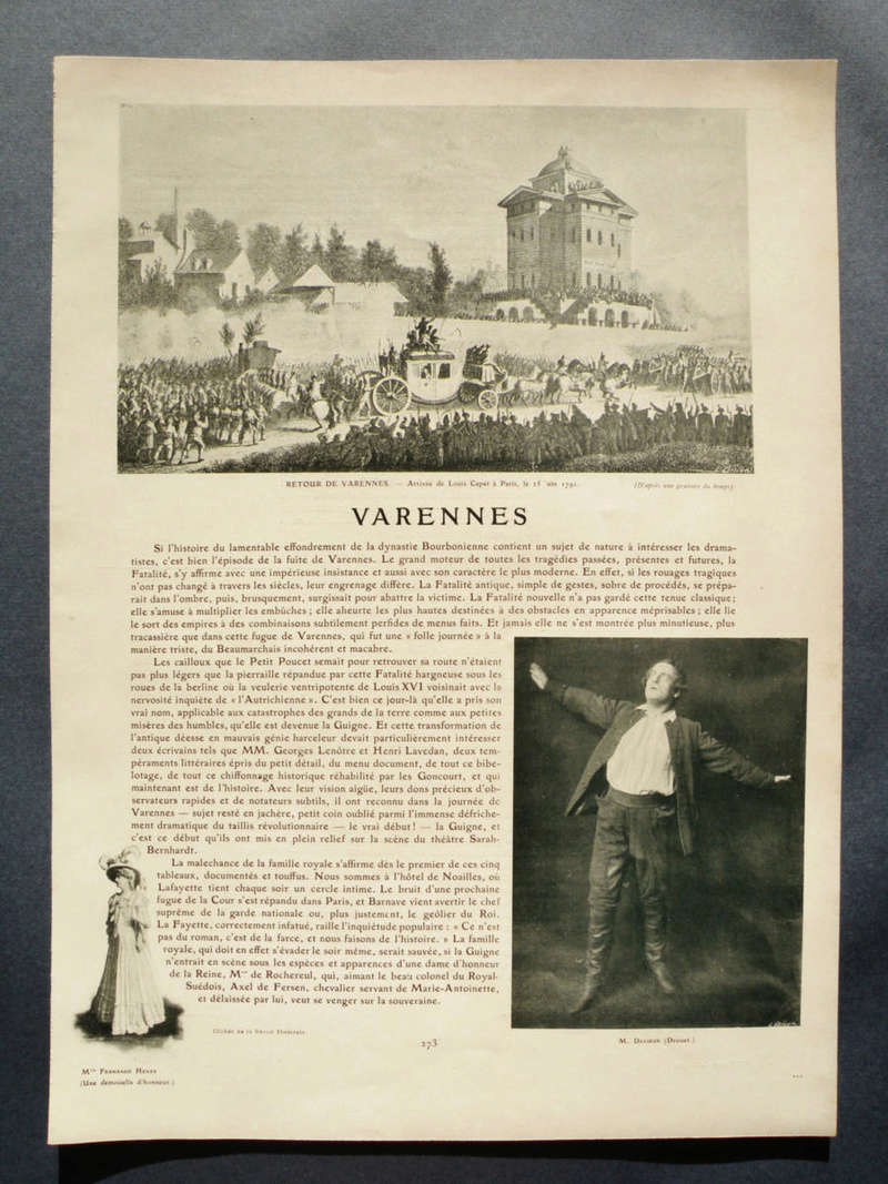 'Varennes' with Sarah Bernhardt 0010