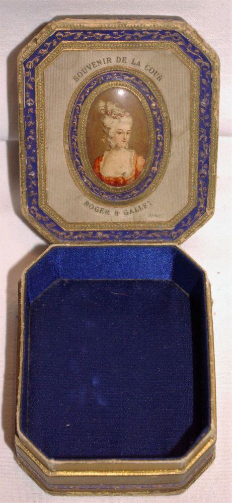 Exquisite 1920's Roger et Gallet Perfume Presentation Box, Marie Antoinette Portrait 06804c11