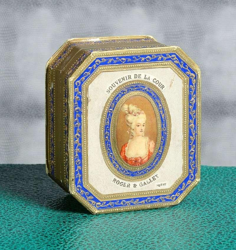 Exquisite 1920's Roger et Gallet Perfume Presentation Box, Marie Antoinette Portrait 20710