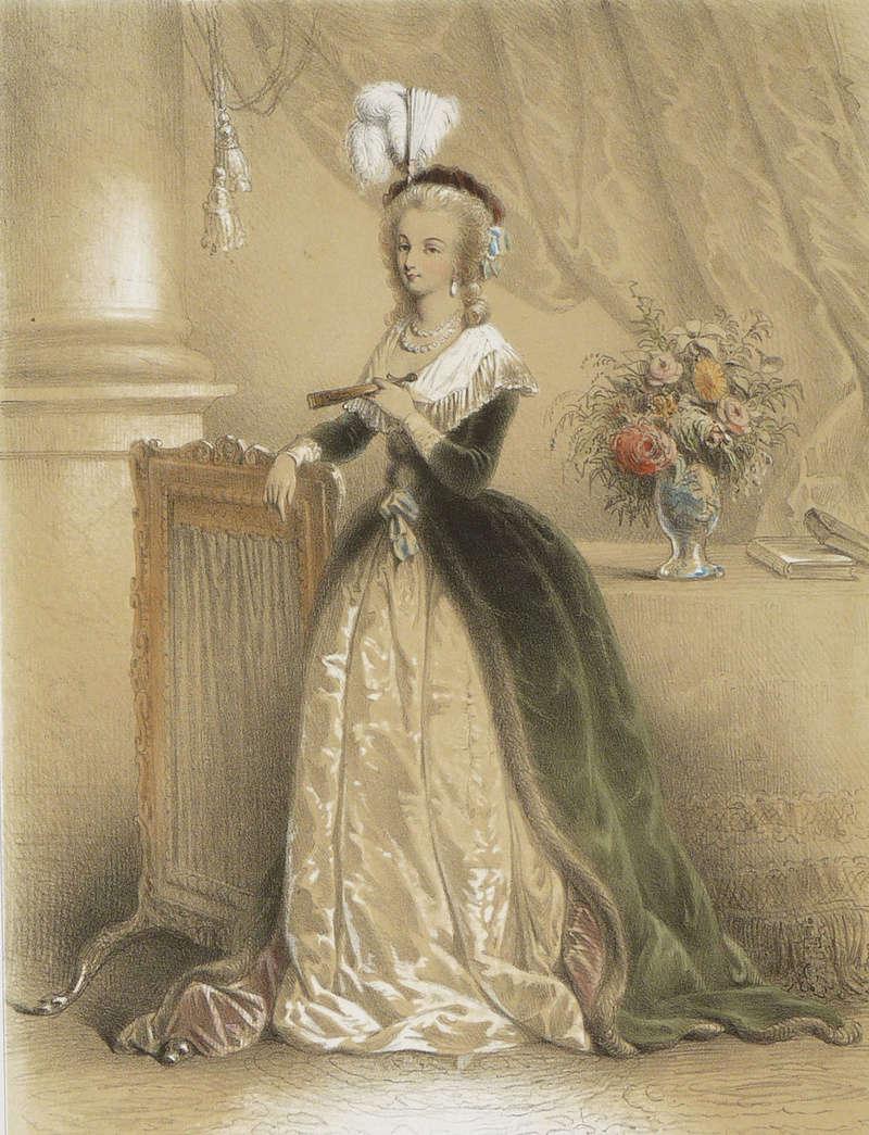 Marie-Antoinette au livre en robe bleue - Page 2 S-l16013