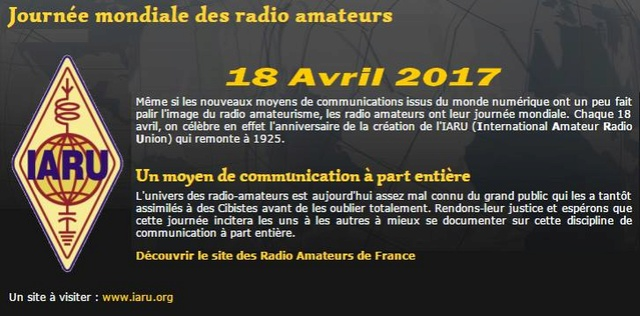 2017 - Journée mondial des Radio Amateurs (18 Avril 2017) 27134710