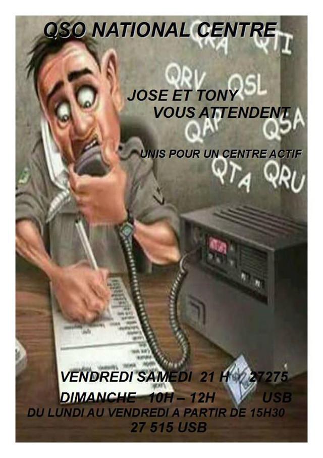 Vendredi & Samedi à 21H00 - Dimanche à 10h00: Le QSO National du canal 27 (27,275 Mhz) 76445210