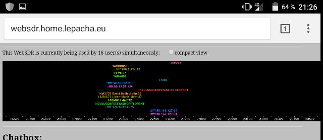 WebSDR 11m + bande déca. (SWL) Screen18