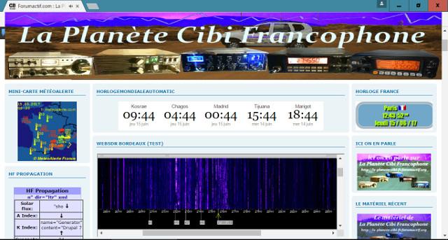 WebSDR 11m + bande déca. (SWL) Websdr19