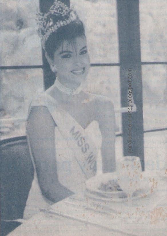 ninibeth leal, miss world 1991. Ninibe12