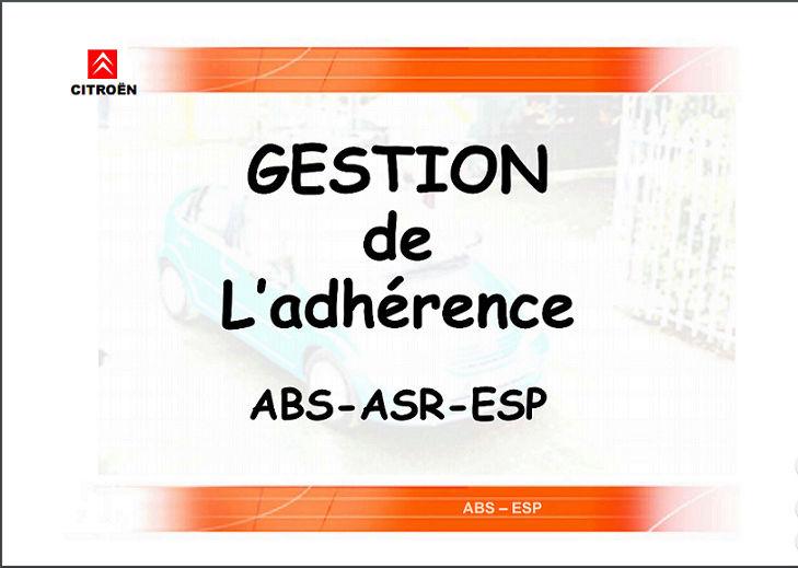 Gestion de L'adhérence ABS-ASR-ESP Nn10