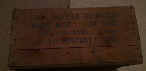 caisse anglaise ww2 ration lait  114