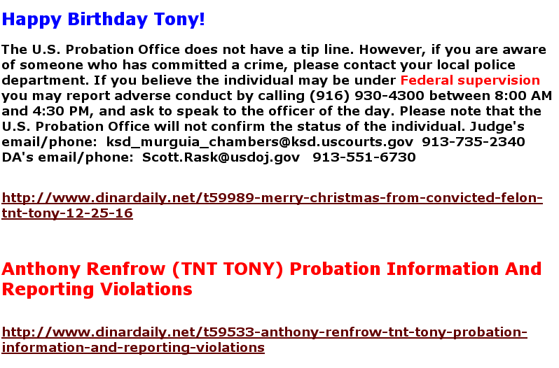 Twice Convicted Felon (Anthony Renfrow) Reformed? Screen24
