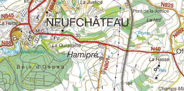 Nouveau en Belgique pour la cartographie Neufch10