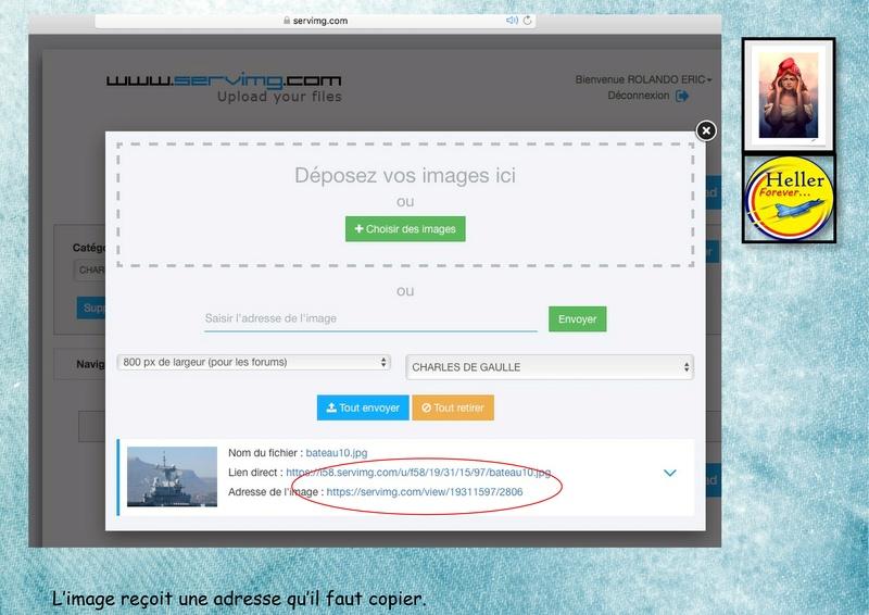 Comment insérer une image dans un post à partir de SERVIMG ...  01110