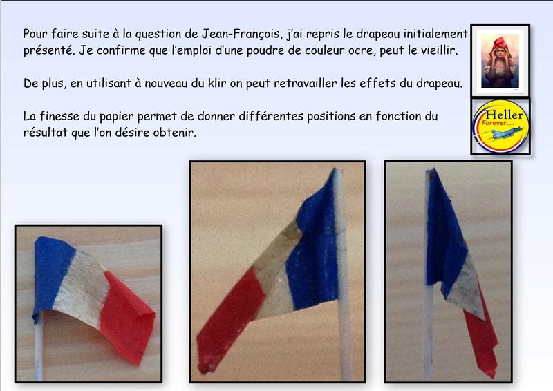Comment faire un drapeau ou un pavillon avec du papier cigarette Heller14