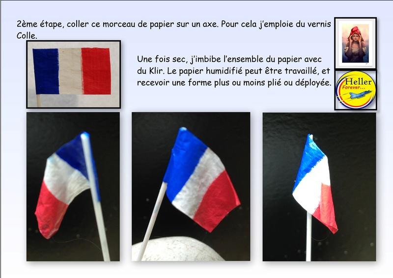Comment faire un drapeau ou un pavillon avec du papier cigarette Papier11