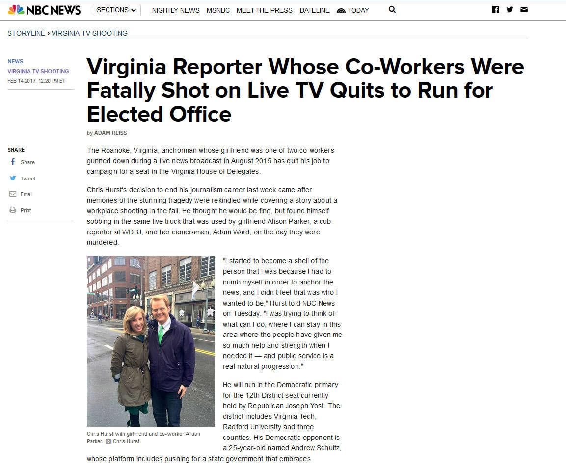 Liveshow in Virginia (USA):  Mord an zwei Journalisten Chris10
