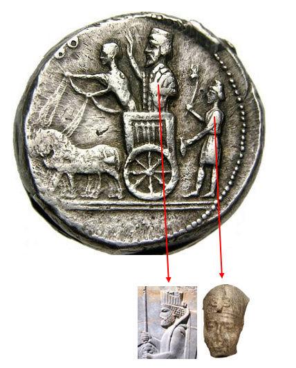 نقود مدينة صيدا عام 342 قبل الميلاد  Cxv10