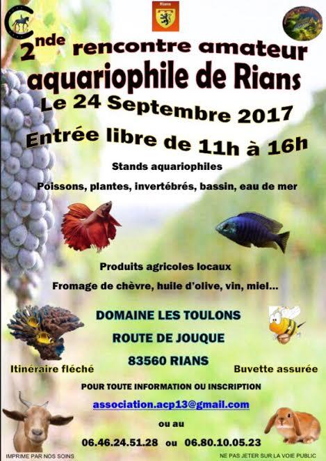 rencontre aquariophile RIANS .  Affich11