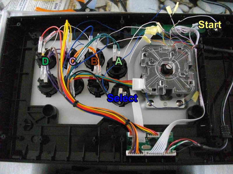 re-câbler un stick USB en DB15 - ayé Qanbap10