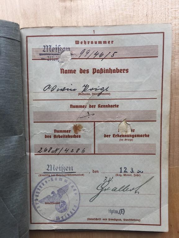 IDENTIFICATION ESTIMATION WERHPASS  W710