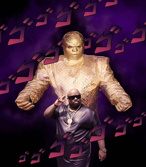 Is  Cee Lo Green a stand user? You decide.  16730410