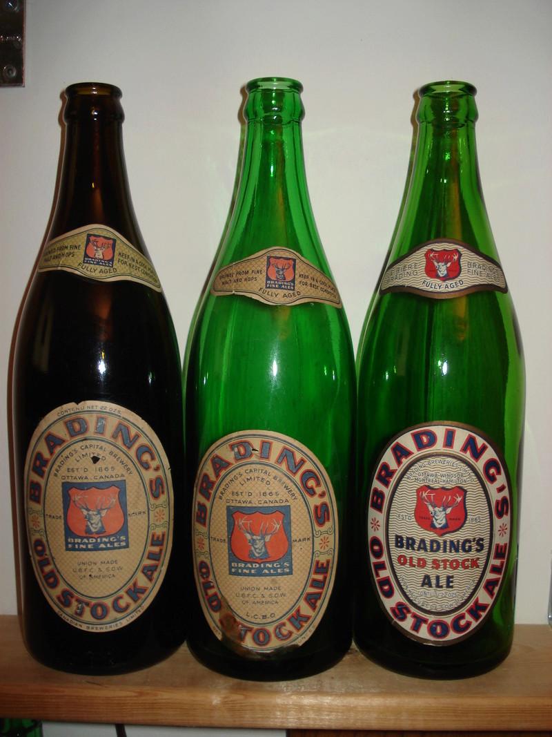 La bière Brading, bouteilles et objets de brasserie. 01210
