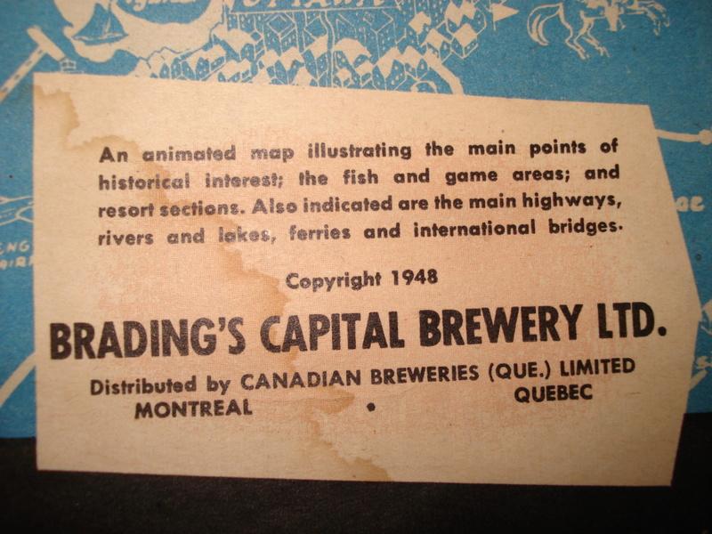 La bière Brading, bouteilles et objets de brasserie. 04510