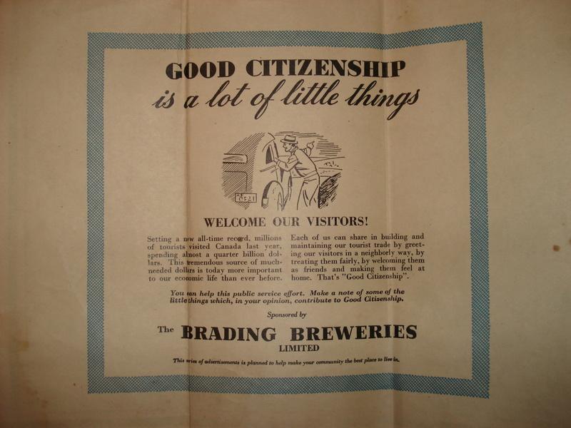 La bière Brading, bouteilles et objets de brasserie. 04710