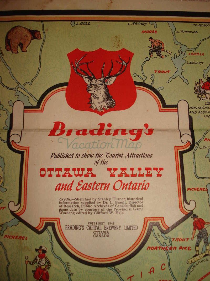 La bière Brading, bouteilles et objets de brasserie. 04810