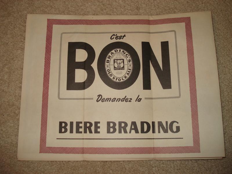 La bière Brading, bouteilles et objets de brasserie. 05210