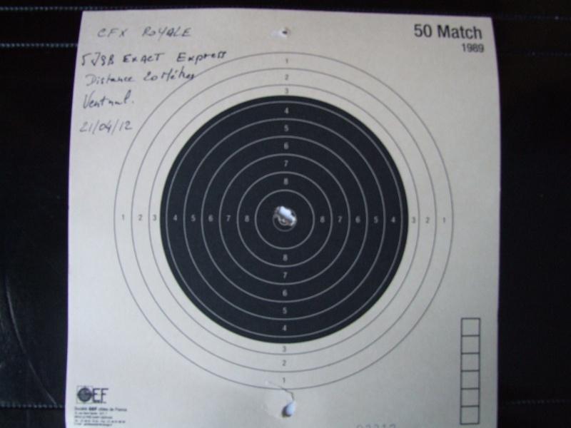 Comparatif Walther LGU - Gamo CFX IGT - 25 mètres Dscf0510