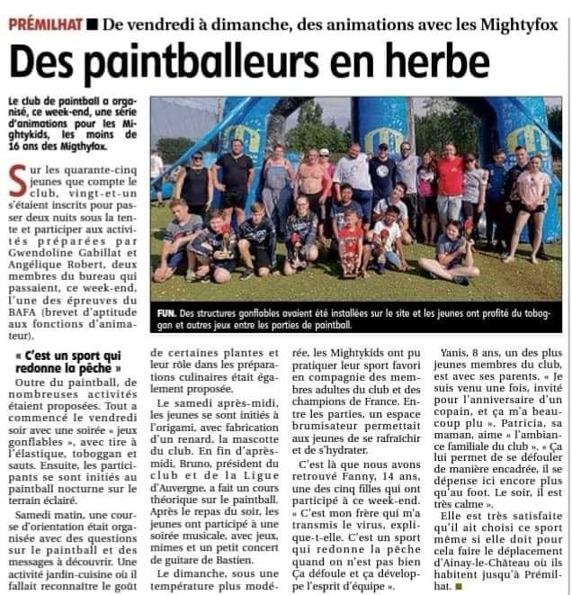 Article Presse: Des Paintballeurs en herbe (France / 03)  1907de10