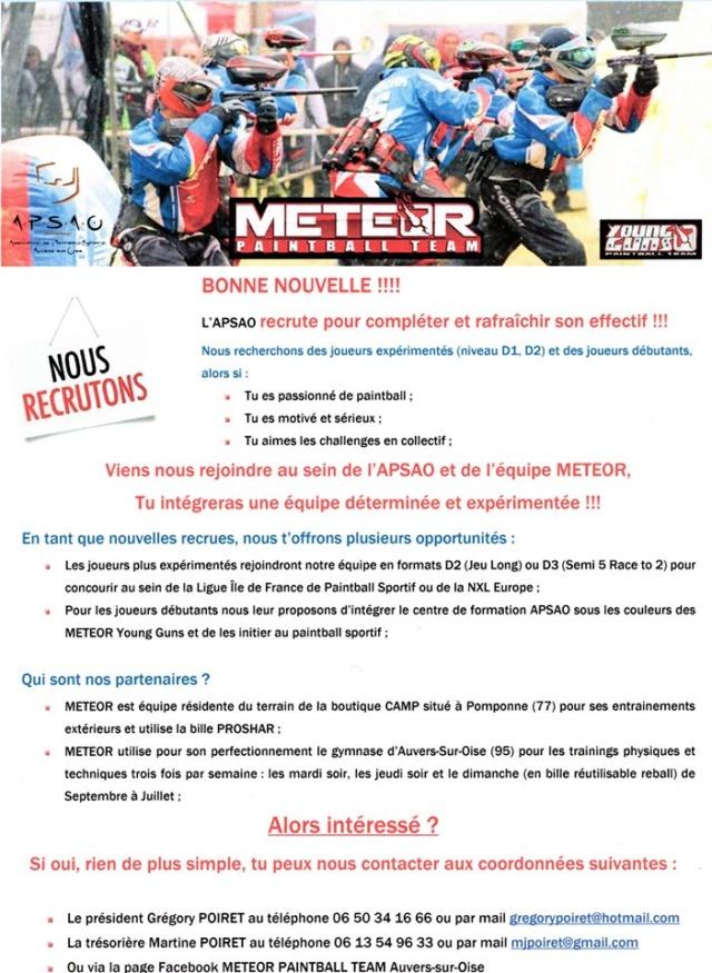 Meteor Auvers Sur Oise recrute (France / 95) 19mete10