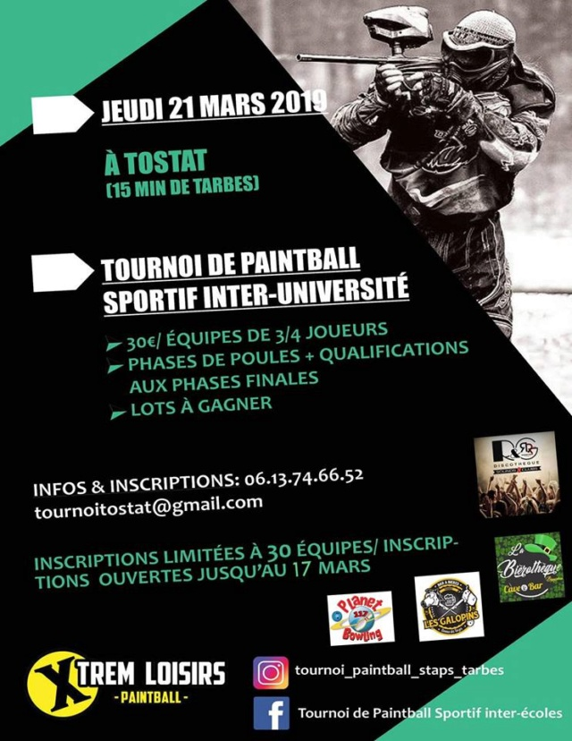 Xtrem Loisirs Paintball: Tournoi Inter Universités (France /65) 19tour10