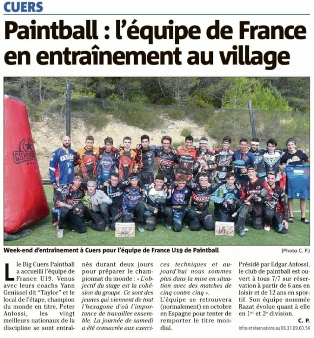 Article Presse: Equipe de France en entrainement au village 20_08a10