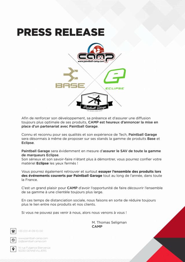 Communiqué de Presse / Press Release: Partenariat Camp & Paintball Garage 20prca10