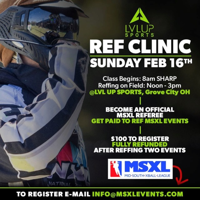 LVLUP Sports / MSXL:  Ref Clinic  20refc10