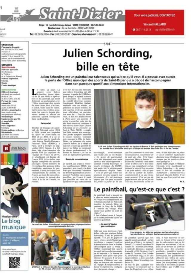Article Presse: Julien Schording bille en tête 2101ar10