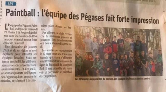 Article Presse: L'équipe des Pegases fait forte impression Articl12