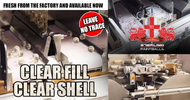 Sterling Paintball Clear Shell / Fill Clearf10